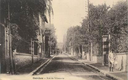 """CPA France 92 """" Garches, Rue de Villeneuve"""""""