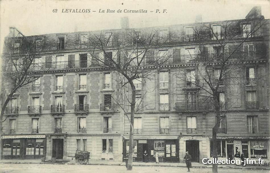 Cpa france 92 levallois perret la rue de cormeilles for 92 haute seine