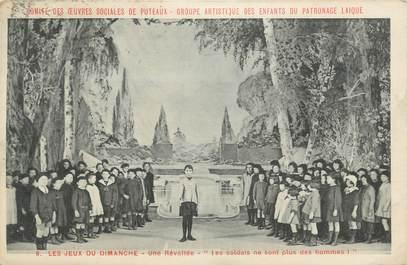 """CPA France 92 """" Puteaux, Les Jeux du Dimanche"""""""