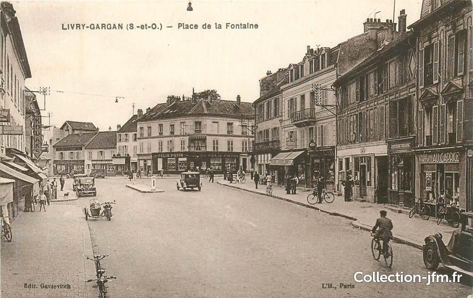 Cpa france 93 livry gargan place de la fontaine 93 - Point p livry gargan ...