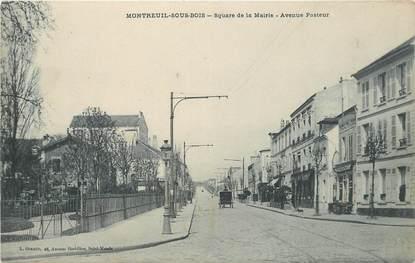 """CPA FRANCE 93 """"Montreuil, square de la mairie"""""""