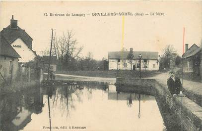 "CPA FRANCE 60 ""Orvillers Sorel"""