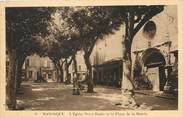 """04 Alpe De Haute Provence / CPA FRANCE 04 """"Manosque, l'église Notre Dame et la place de la Mairie"""""""