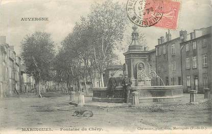 "CPA FRANCE 63 ""Maringues, Fontaine du Chéry"""