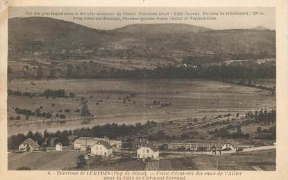 """CPA FRANCE 63 """"Env. de Lempdes, Usine des eaux de l'Allier"""""""