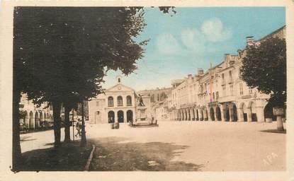 """CPA FRANCE 64 """"Nay, la mairie et le monument aux morts"""""""