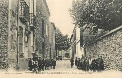 """CPA FRANCE 66 """"Villeneuve de la Rivière, Ecoles"""""""