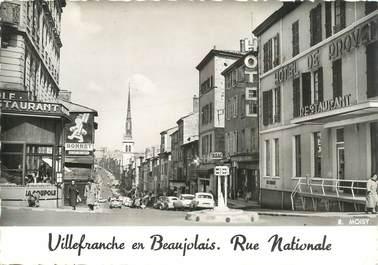 """CPSM FRANCE 69 """"Villefranche en Beaujolais, rue Nationale"""""""