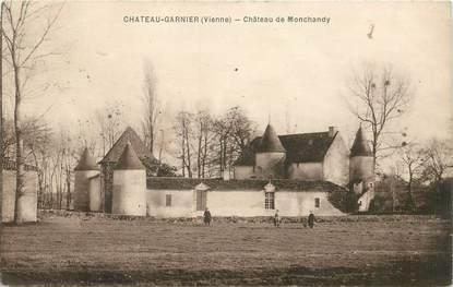 "CPA FRANCE 86 ""Chateau Garnier, Chateau de Monchandy"""