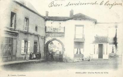 """CPA FRANCE 86 """"Availles, vieille porte de Ville"""""""