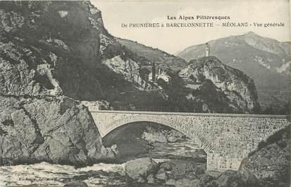 """/ CPA FRANCE 04 """"Méolans, de Prunières à Barcelonette"""""""