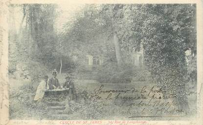 """CPA FRANCE 95 """"Enghien, Cercle de Saint James, rue de Longchamps"""""""