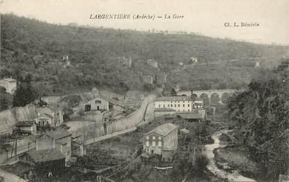 """CPA FRANCE 07 """"Largentière, la gare"""""""