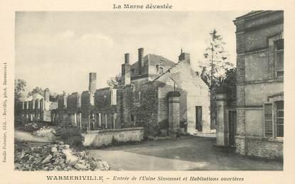 """CPA FRANCE 51 """"Warmeriville, Entrée de l'Usine Simonnet"""""""