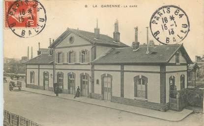 """CPA FRANCE 92 """"La Garenne, la gare"""""""