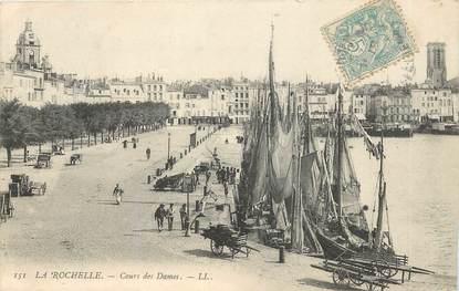 """CPA FRANCE 17 """"La Rochelle, Cours des Dames"""""""