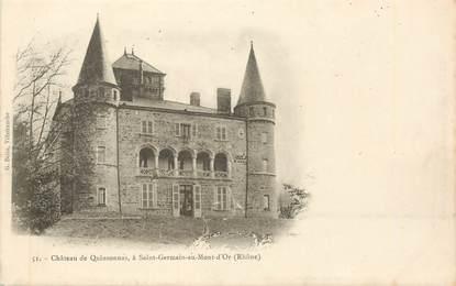 """CPA FRANCE 69 """"Chateau de Quinsonnas, à Saint Germain au Mont d'Or"""""""