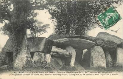 """CPA FRANCE 35 """"Essé, la Roche aux Fées, monument mégalithique"""" DOLMEN"""