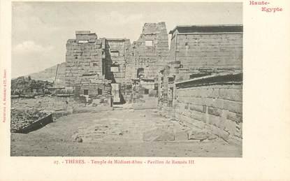 """CPA EGYPTE """"Thèbes, temple de Médinet Abou, pavillon de Ramsès III"""" / Ed. BERGERET"""