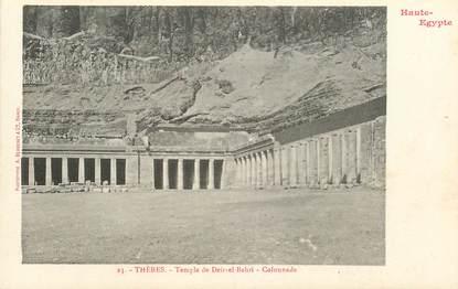 """CPA EGYPTE """"Thèbes, temple de Deir el Bahri"""" / Ed. BERGERET"""