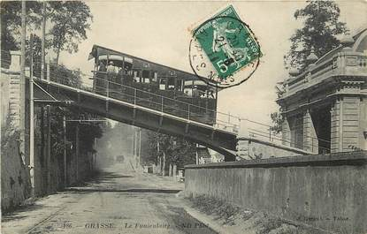 """CPA FRANCE 06 """"Grasse,  le funiculaire"""""""