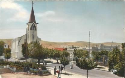 """CPSM ALGERIE """"Inkermann, la place de l'Eglise"""""""