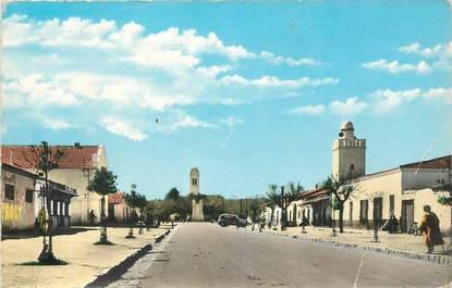 """CPSM ALGERIE """"Djelfa, avenue et Mosquée centrale"""""""