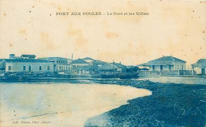 """CPA ALGERIE """"Port aux Poules, le port et les villas"""""""