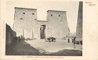 """CPA EGYPTE """"Kéneh, pylones du temple de Khonsou à Karnak """" / Ed. BERGERET"""