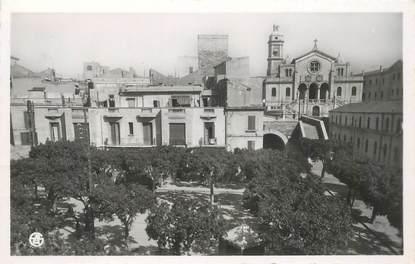 """CPSM ALGERIE """"Oran, la pLace de la Perle et Eglise Saint Louis"""""""