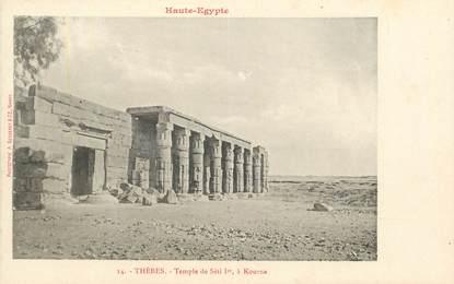 "CPA EGYPTE ""Kéneh, temple de Séti Ier à Kourna "" / Ed. BERGERET"
