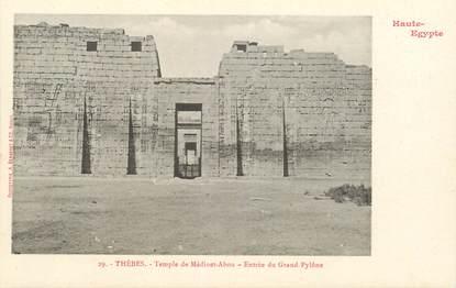 """CPA EGYPTE """"Thèbes, temple de Médinet Abou  """" / Ed. BERGERET"""
