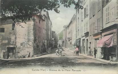"""CPA FRANCE 83 """" Carcès, Avenue de la Place Marceau"""""""