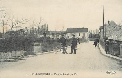 "CPA FRANCE 94 ""Villecresnes, Pont du chemin de fer"""
