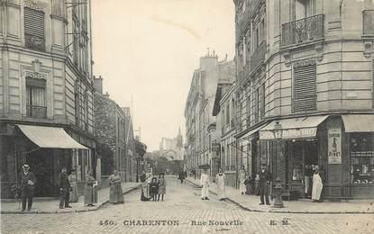 "CPA FRANCE 94 ""Charenton, Rue Nouvelle"""