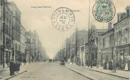 "CPA FRANCE 94 ""Ivry-sur-Seine, Rue Nationale"""