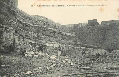 """CPA FRANCE 95 """"Cormeilles-en-Parisis, Carrière Lambert, Extraction du Plâtre"""""""
