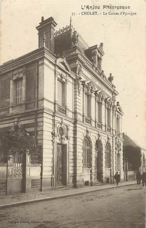 """CPA FRANCE 49 """"Cholet, La Caisse d'Epargne"""""""
