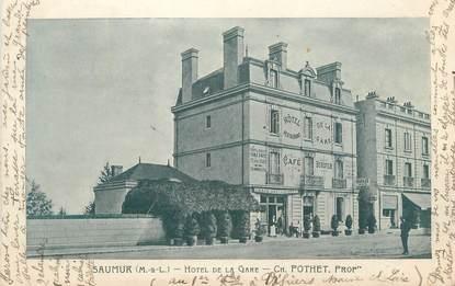 """CPA FRANCE 49 """"Saumur, Hôtel de la Gare"""""""