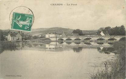 """CPA FRANCE 89 """"Champs, Pont"""""""