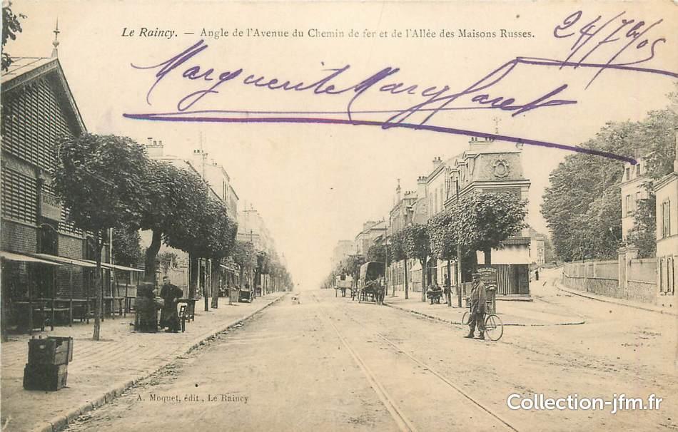 Cpa france 93 le raincy avenue du chemin de fer all e des maisons russes 93 seine saint - Allee du jardin anglais le raincy ...