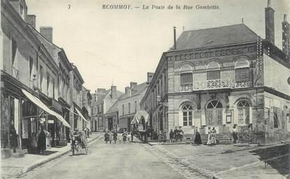"CPA FRANCE 72 ""Ecommoy, Poste, Rue Gambetta"""
