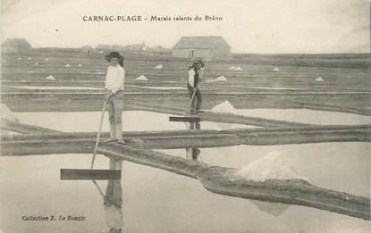 "CPA FRANCE 56 ""Carnac-Plage, Marais salants du Brèno"""