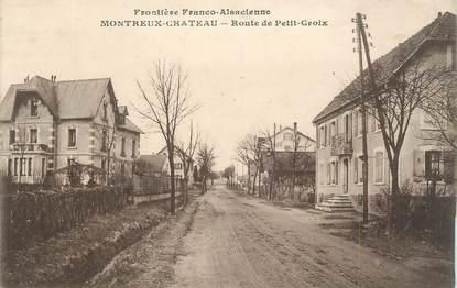 """CPA FRANCE 90 """"Montreux-Château, Frontière Franco-Alsacienne, Route de Petit-Croix"""""""