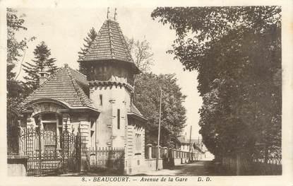 """CPA FRANCE 90 """"Beaucourt, Avenue de la Gare"""""""