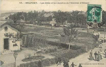 """CPA FRANCE 90 """"Belfort, Les Cités et les jardins d'Alsace"""""""
