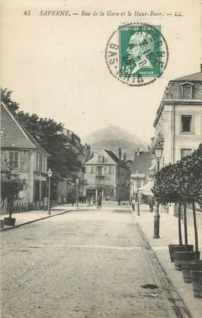 """CPA FRANCE 67 """"Saverne, Rue de la Gare et le Haut-Barr"""""""