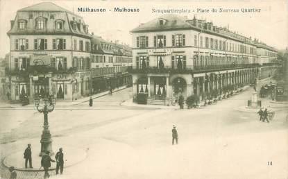 """CPA FRANCE 68 """"Mulhouse, Place du Nouveau Quartier""""."""