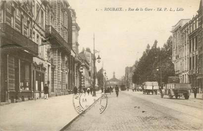 """CPA FRANCE 59 """"Roubaix, Rue de la Gare"""""""