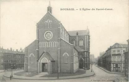 """CPA FRANCE 59 """"Roubaix, Eglise du Sacré-Coeur"""""""